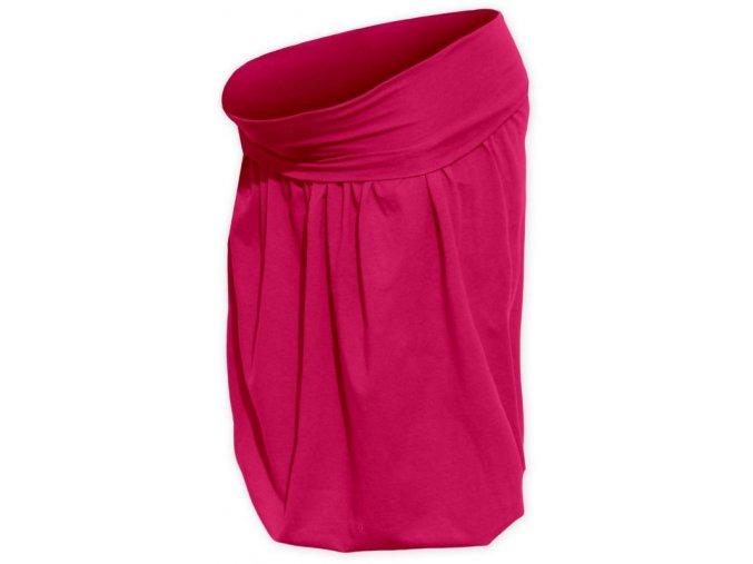 Balónová sukně tm. růžová
