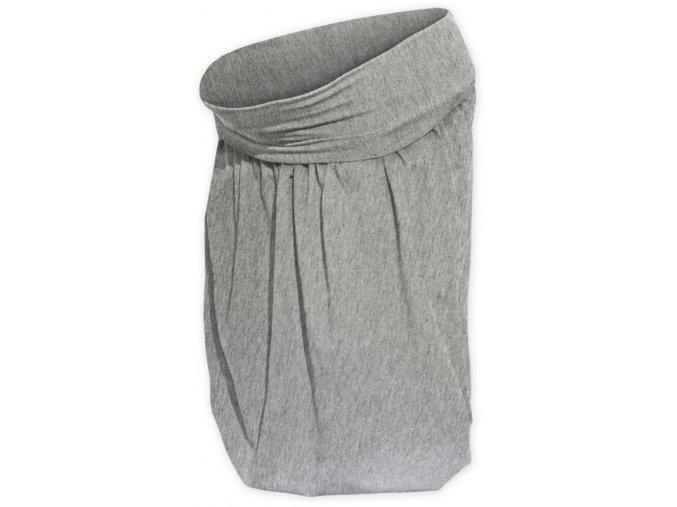 Balónová sukně šedý melír