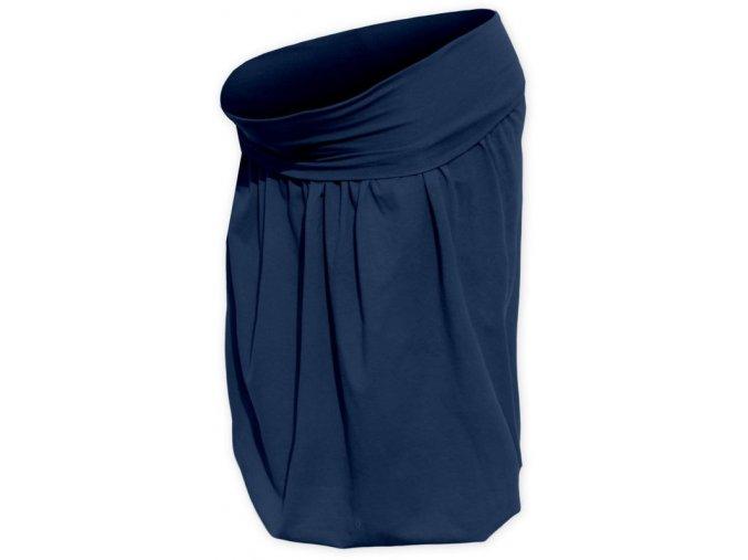 Balónová sukně tm. modrá
