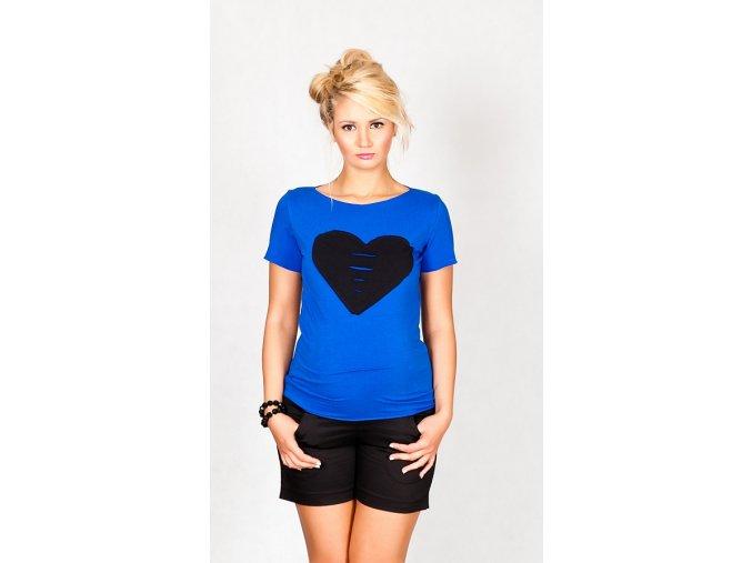 Těhotenské tričko/halenka s krátkým rukávem - Heart chaber