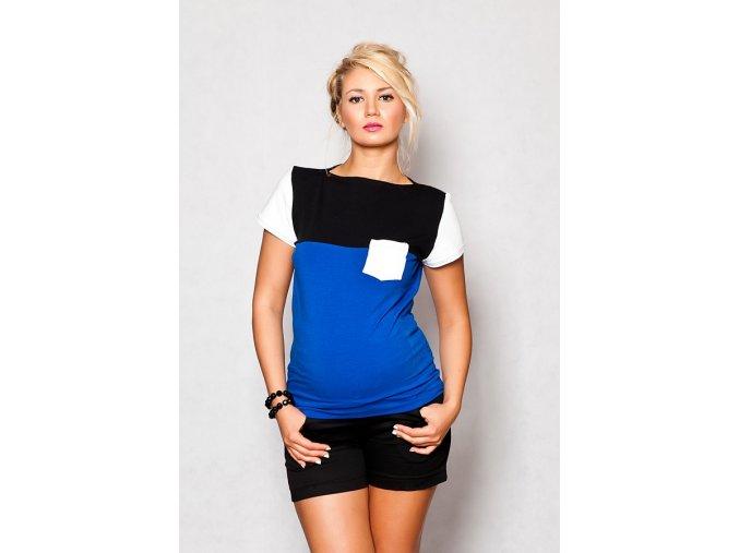 Těhotenské tričko/halenka s krátkým rukávem - Anna chaber