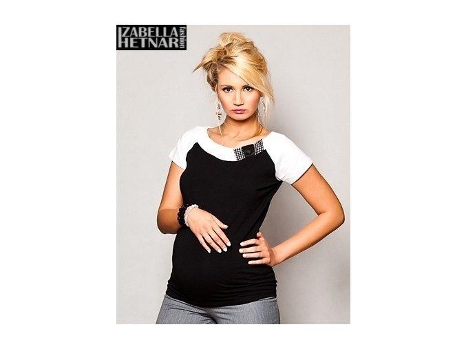 Těhotenské tričko/halenka - Kristal černá