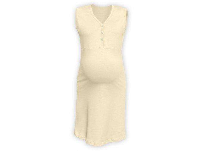 Těhotenská/kojící noční košile bez rukávů - caffé latté, vel. L/XL