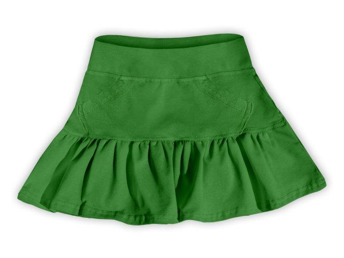 Sukýnka tm. zelená, vel. 92, 110, 128 a 134