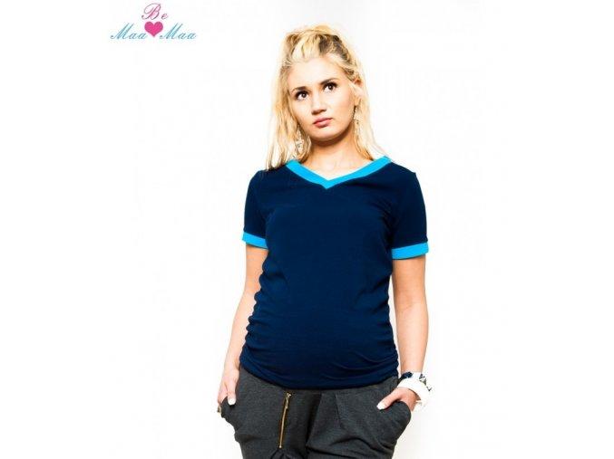 Těhotenské tričko - Ewa granát