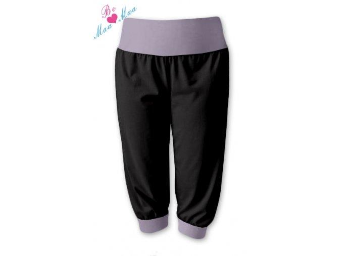 Sportovní 3/4 capri kalhoty černé/šedá