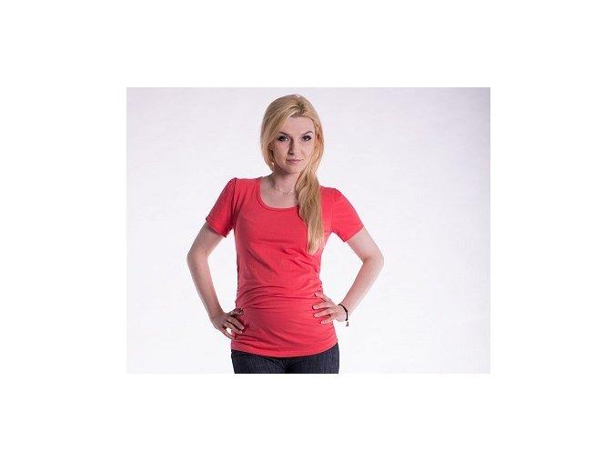 Těhotenské tričko - Joly korálové
