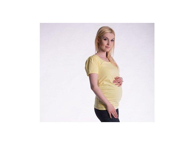 Těhotenské tričko - Joly žluté