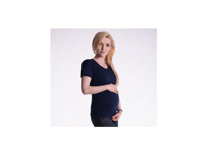 Těhotenské tričko - Joly granátové