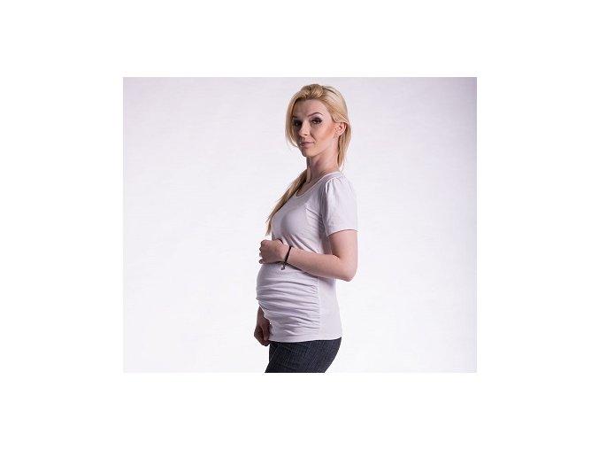 Těhotenské tričko - Joly bílé