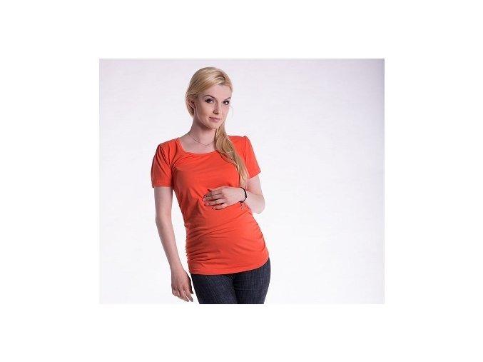 Těhotenské tričko - Joly oranžové