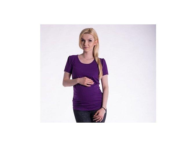 Těhotenské tričko - Joly fialové