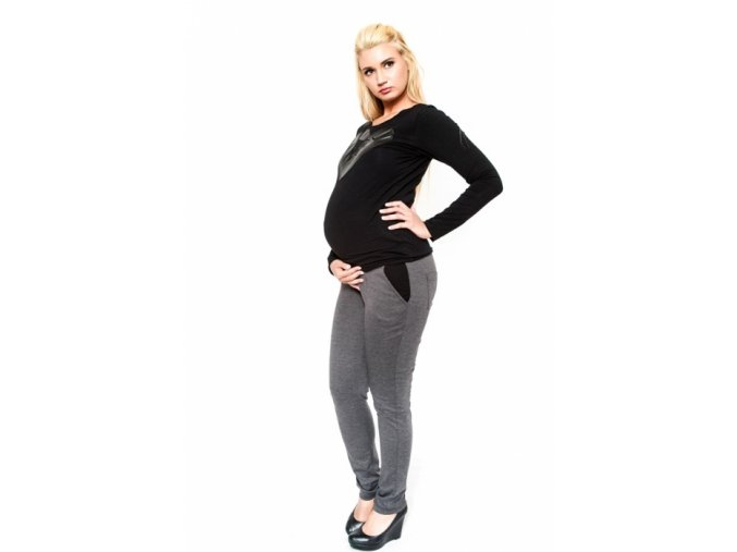 Těhotenské kalhoty Nina grafit