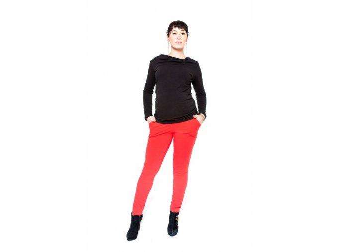 Těhotenské kalhoty Kali červené