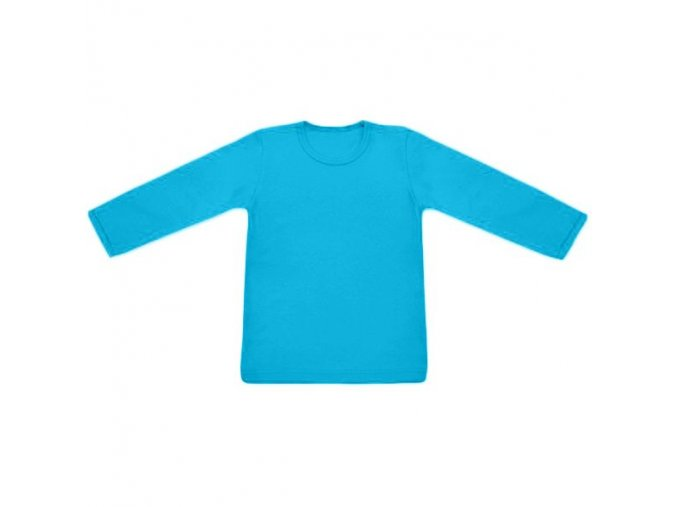 Tričko s dlouhým rukávem - tyrkysová, vel. 74 a 80