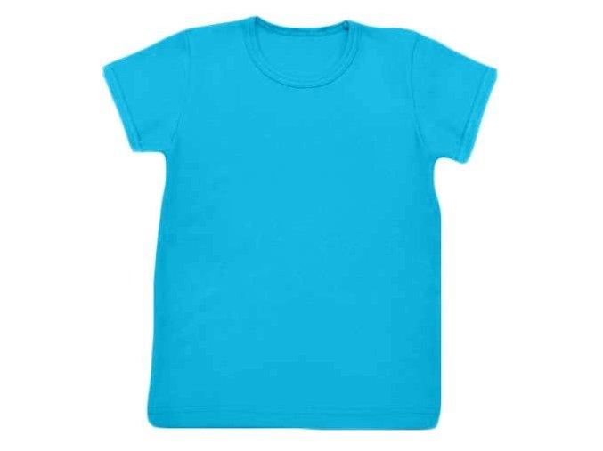 Tričko s krátkým rukávem tyrkysová, vel. 74 a 86