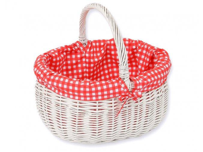 Proutěný košík Kárko červené