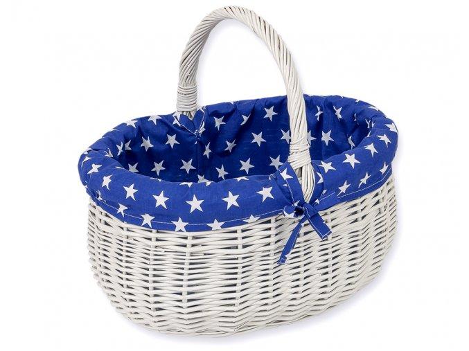 Proutěný košík Hvězdičky na granátové
