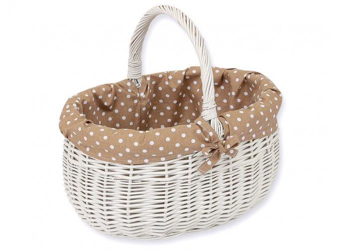 Proutěný košík Hnědá s puntíčky
