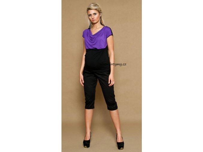 Těhotenské 3/4 kalhoty Aladinky černé, vel. L