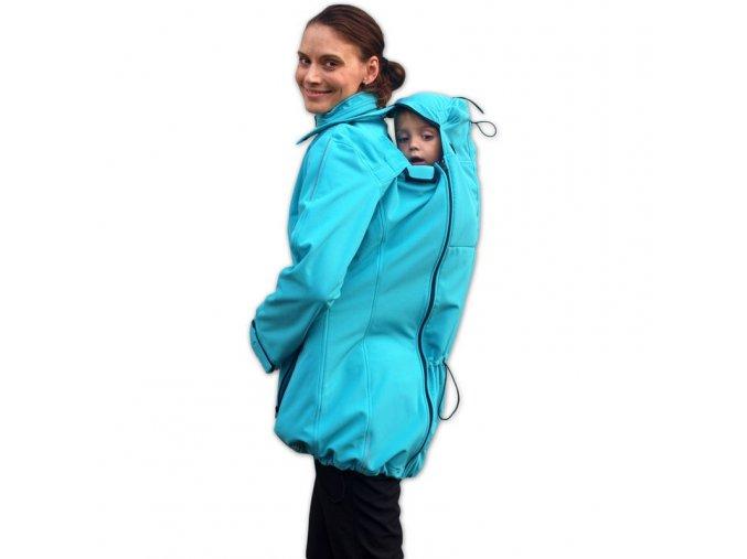 Softshellová bunda 4v1 tyrkysová