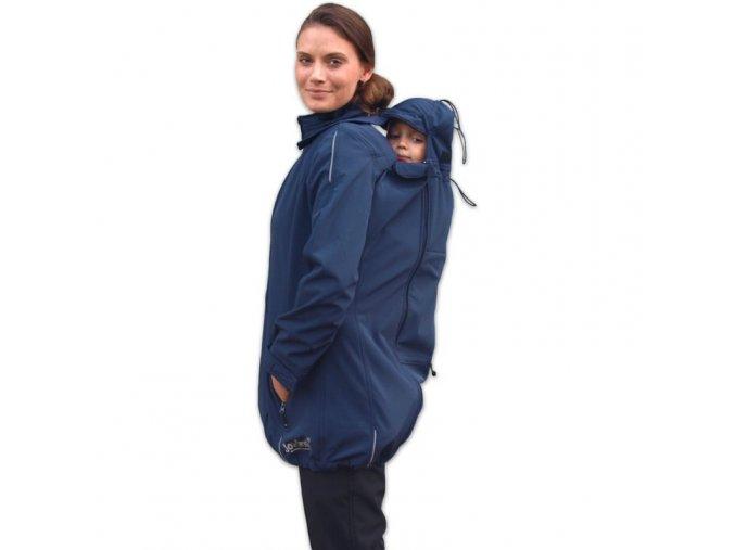 Softshellová bunda 4v1 tm. modrá, vel. M/L