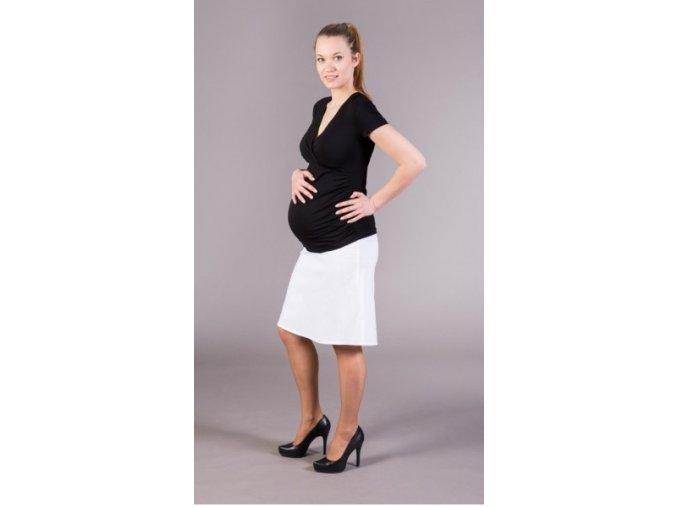 Těhotenská sukně Jeans bílá, vel. L