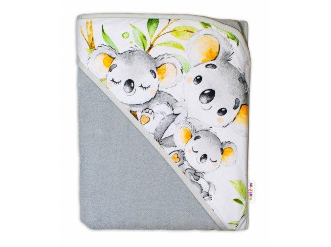 koala šedá osuška