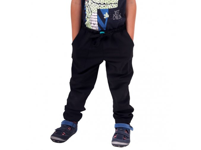 Dětské lehké, funkční outdoor kalhoty černé