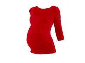 Těhotenské tričko se 3/4 rukávem - Lili červená