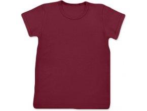 Tričko s krátkým rukávem bordó, vel. 74, 80, 86 a 92