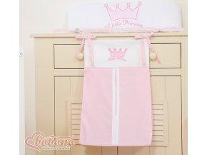 Kapsář na plenky - Little princess růžová
