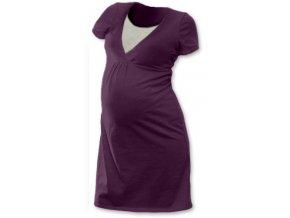 Těhotenská a kojící noční košile - Lucie švestková