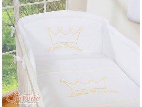 Povlečení s mantinelem - Little princess bílá
