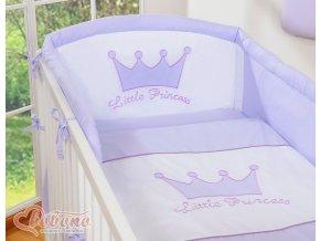 Povlečení s mantinelem - Little princess lila
