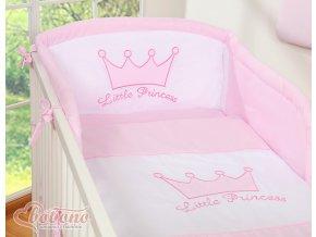 Povlečení s mantinelem - Little princess růžová