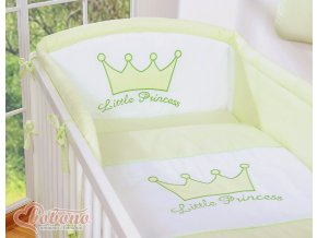Povlečení s mantinelem - Little princess zelená