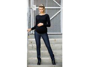 Těhotenské kalhoty Jeans černé