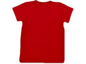 Tričko s krátkým rukávem červená, vel. 74 a 80