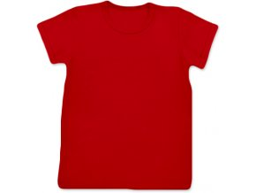 Tričko s krátkým rukávem červená