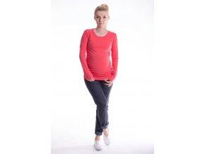 Těhotenské triko Ella - korálové