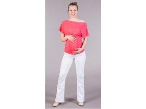Těhotenské kalhoty Jeans bílé