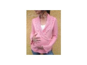 Zavinovací svetr růžový