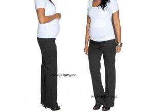 Těhotenské letní černé kalhoty, vel. XL
