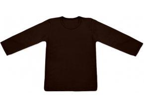 Tričko s dlouhým rukávem - hnědá, vel. 74, 80 a 92