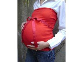 Těhotenský top/pás se stuhou - Červený