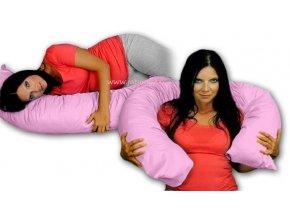 Kojící polštář/relaxační poduška - růžová