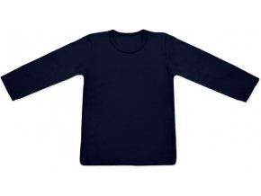 Tričko s dlouhým rukávem - tm. modrá, vel. 74 a 80