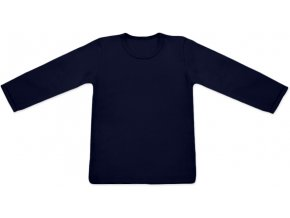 Triko s dlouhým rukávem - tm. modrá
