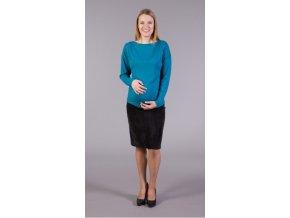 Těhotenská manžestrová sukně - černá, vel. XXL
